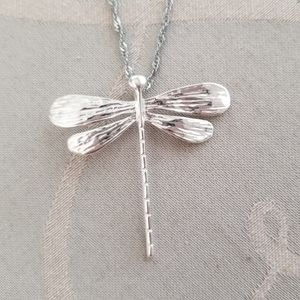 Jewelry - NWOT. Sterling Silver Dragonfly Necklace.